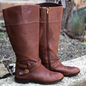 Audrey Brooke Leather Riding Boots - Z1
